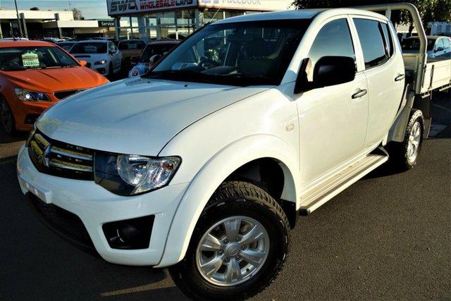 Used Mitsubishi Triton MN MY13 GLX Double Cab Seaford, 2013 Mitsubishi Triton MN MY13 GLX Double Cab White 5 Speed Manual Utility