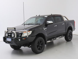 2012 Ford Ranger PX XLT 3.2 (4x4) Black 6 Speed Automatic Double Cab Pick Up.