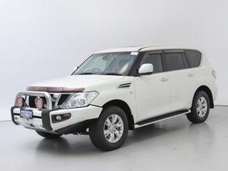 2016 Nissan Patrol Y62 Series 3 TI-L (4x4) White 7 Speed Automatic Wagon.