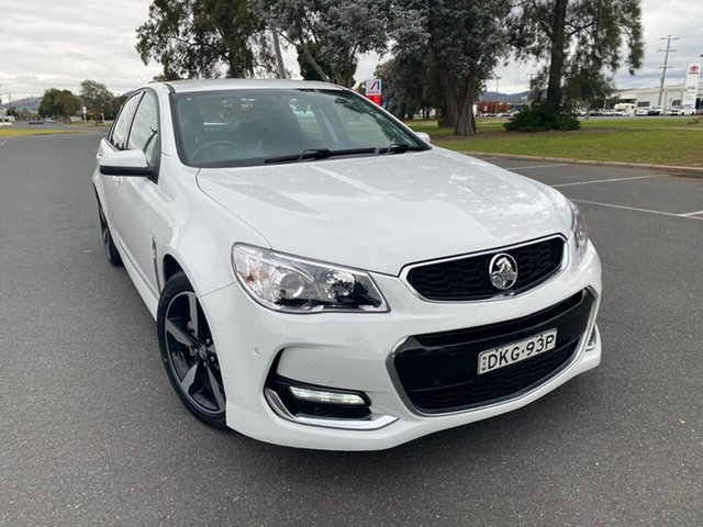 Used Holden Commodore VF II MY17 SV6 Wodonga, 2017 Holden Commodore VF II MY17 SV6 White 6 Speed Sports Automatic Sedan