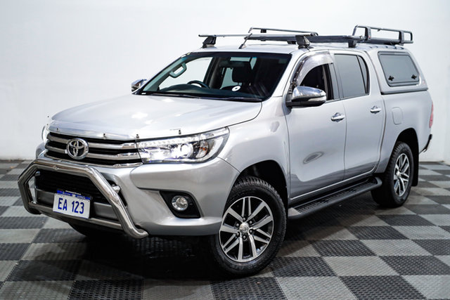 Used Toyota Hilux GUN126R SR5 Double Cab Edgewater, 2016 Toyota Hilux GUN126R SR5 Double Cab Silver 6 Speed Sports Automatic Utility
