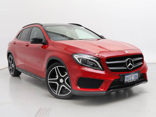 2016 Mercedes-Benz GLA250 4Matic X156 MY16 Jupiter Red 7 Speed Auto Dual Clutch Wagon.