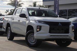 2021 Mitsubishi Triton MR MY21 GLX Double Cab White 6 Speed Sports Automatic Utility.