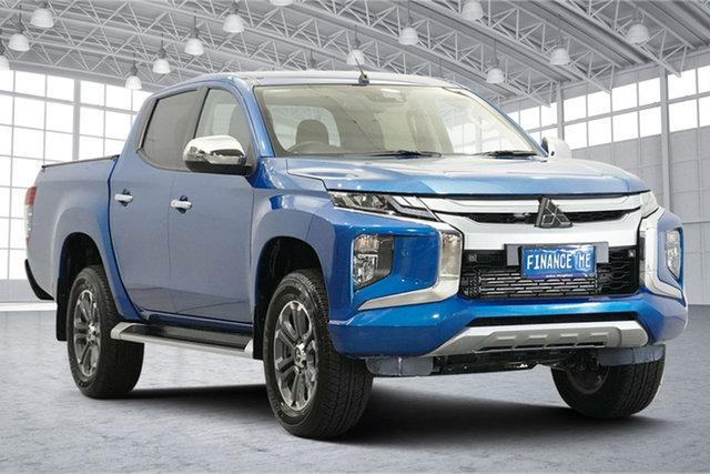 Used Mitsubishi Triton MR MY20 GLS Double Cab Victoria Park, 2020 Mitsubishi Triton MR MY20 GLS Double Cab Blue 6 Speed Sports Automatic Utility