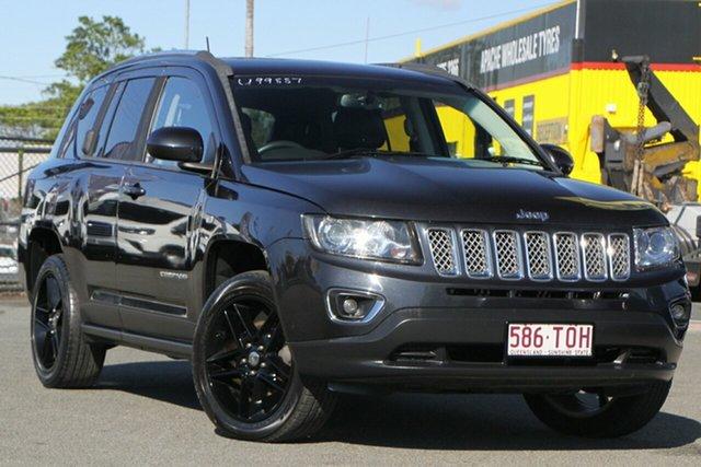 Used Jeep Compass MK MY14 Limited Rocklea, 2013 Jeep Compass MK MY14 Limited Maximum Steel/blackleather 6 Speed Sports Automatic Wagon