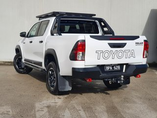 2019 Toyota Hilux GUN126R Rugged X Double Cab White 6 Speed Manual Utility.