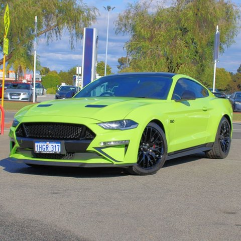 Used Ford Mustang FN 2020MY GT Midland, 2020 Ford Mustang FN 2020MY GT Green 10 Speed Sports Automatic Fastback