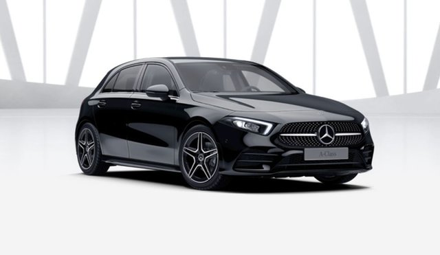 Demonstrator Mercedes-Benz A-Class W177 801+051MY A180 DCT Mulgrave, 2021 Mercedes-Benz A-Class W177 801+051MY A180 DCT Night Black 7 Speed Sports Automatic Dual Clutch