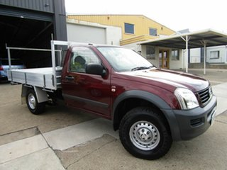 2006 Holden Rodeo RA MY06 LX 4x2 Maroon 4 Speed Automatic Cab Chassis.