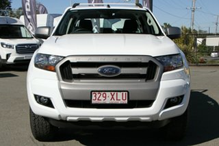 2017 Ford Ranger PX MkII XLS Double Cab Cool White 6 Speed Sports Automatic Utility
