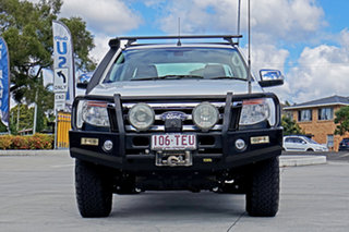 2013 Ford Ranger PX XLT Double Cab Cool White 6 Speed Sports Automatic Utility.