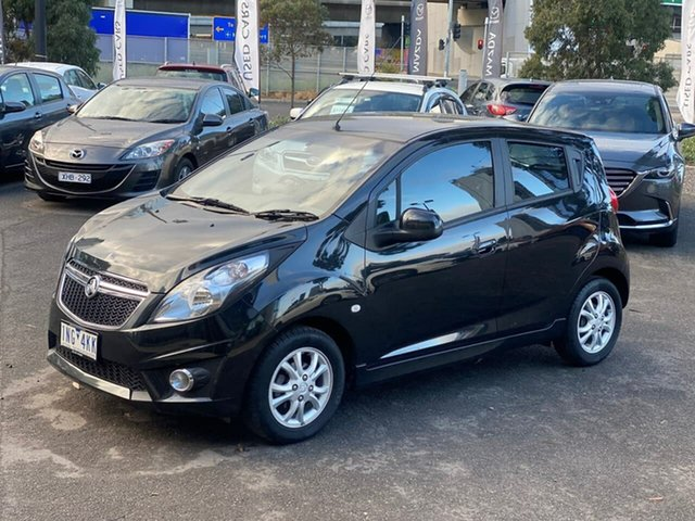 Used Holden Barina Spark MJ MY14 CD South Melbourne, 2014 Holden Barina Spark MJ MY14 CD Carbon Flash 4 Speed Automatic Hatchback
