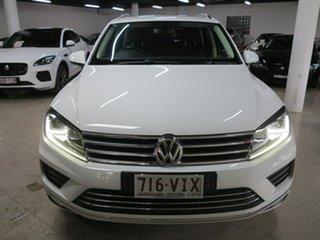 2015 Volkswagen Touareg 7P MY15 150TDI Tiptronic 4MOTION White 8 Speed Sports Automatic Wagon.