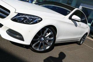 2014 Mercedes-Benz C250 205 Polar White 7 Speed Automatic Sedan.