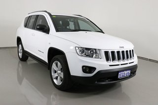 2013 Jeep Compass MK MY12 Sport (4x2) White Continuous Variable Wagon.