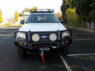 2013 Ford Ranger PX XL 2.2 (4x4) White 6 Speed Automatic Crew Cab Utility.