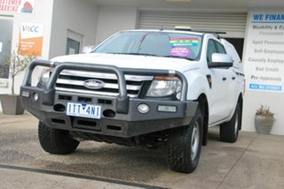 2014 Ford Ranger PX XL 3.2 (4x4) White 6 Speed Automatic Dual Cab Chassis.