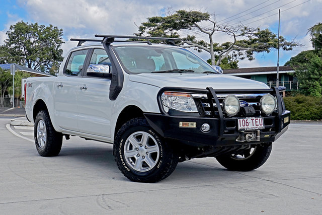 Used Ford Ranger PX XLT Double Cab Capalaba, 2013 Ford Ranger PX XLT Double Cab Cool White 6 Speed Sports Automatic Utility