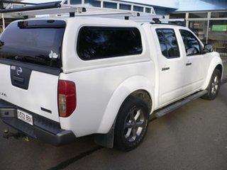 2014 Nissan Navara D40 S7 Titanium White 5 Speed Sports Automatic Utility.