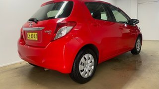 2014 Toyota Yaris NCP130R YR Red 4 Speed Automatic Hatchback.
