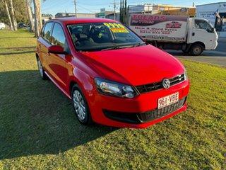 2012 Volkswagen Polo 6R MY13 Trendline DSG Red 7 Speed Sports Automatic Dual Clutch Hatchback.