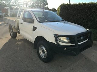 2014 Ford Ranger PX XL Hi-Rider Cool White 6 speed Manual Cab Chassis.