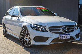 2015 Mercedes-Benz C-Class S205 C250 Estate 7G-Tronic + White 7 Speed Sports Automatic Wagon.