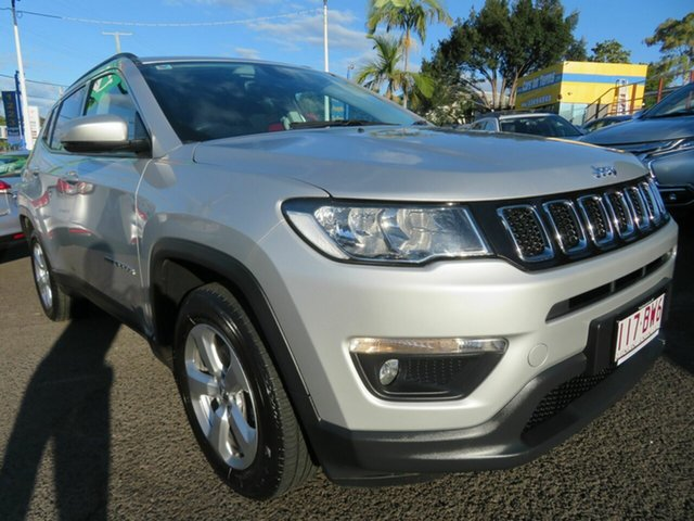 Used Jeep Compass M6 MY18 Longitude FWD Mount Gravatt, 2018 Jeep Compass M6 MY18 Longitude FWD Silver 6 Speed Automatic Wagon