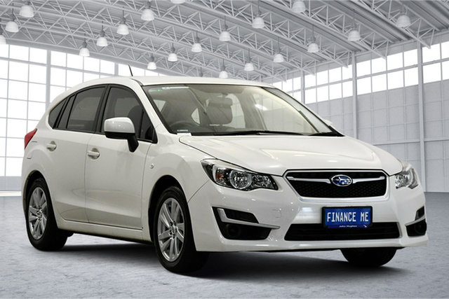 Used Subaru Impreza G4 MY16 2.0i Lineartronic AWD Victoria Park, 2016 Subaru Impreza G4 MY16 2.0i Lineartronic AWD White 6 Speed Constant Variable Hatchback
