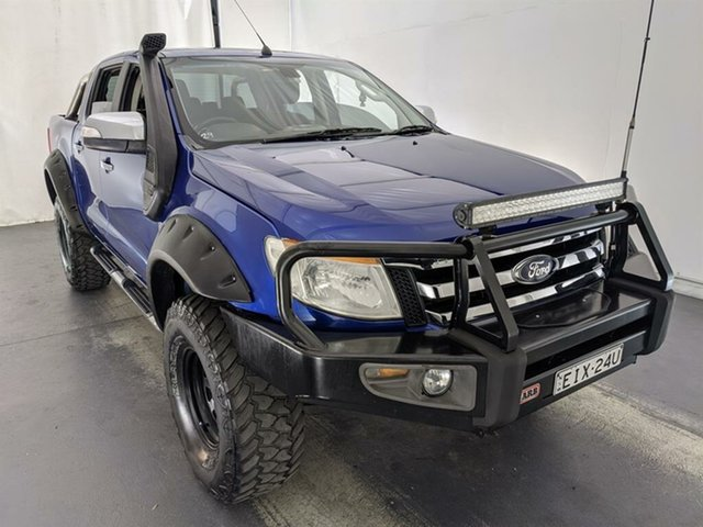 Used Ford Ranger PX XLT Super Cab Maryville, 2011 Ford Ranger PX XLT Super Cab Blue 6 Speed Sports Automatic Utility