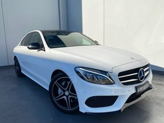 2016 Mercedes-Benz C-Class W205 807MY C200 7G-Tronic + White 7 Speed Sports Automatic Sedan.