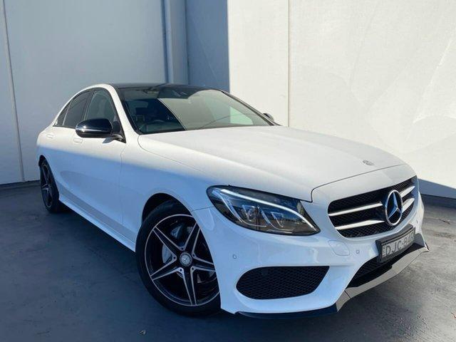 Used Mercedes-Benz C-Class W205 807MY C200 7G-Tronic + Liverpool, 2016 Mercedes-Benz C-Class W205 807MY C200 7G-Tronic + White 7 Speed Sports Automatic Sedan