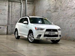 2012 Mitsubishi ASX XA MY12 Platinum 2WD White 6 Speed Constant Variable Wagon.
