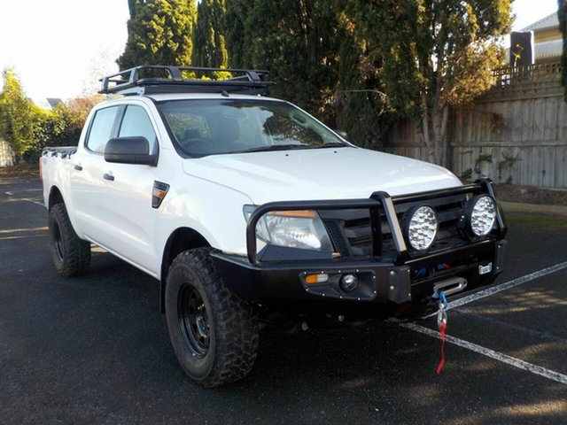 Used Ford Ranger PX XL 2.2 (4x4) Newtown, 2013 Ford Ranger PX XL 2.2 (4x4) White 6 Speed Automatic Crew Cab Utility
