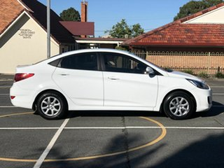 2013 Hyundai Accent RB2 Active White 4 Speed Sports Automatic Sedan.