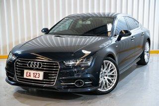 2015 Audi A7 4G MY16 S Line Sportback S Tronic Quattro Blue 7 Speed Sports Automatic Dual Clutch.