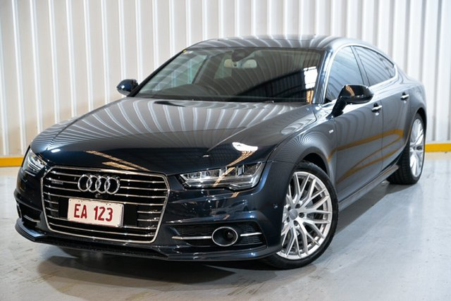 Used Audi A7 4G MY16 S Line Sportback S Tronic Quattro Hendra, 2015 Audi A7 4G MY16 S Line Sportback S Tronic Quattro Blue 7 Speed Sports Automatic Dual Clutch