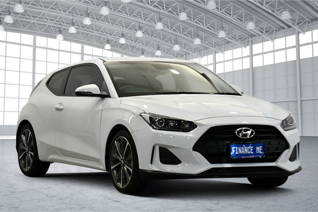 Used Hyundai Veloster JS MY20 Coupe Victoria Park, 2019 Hyundai Veloster JS MY20 Coupe White 6 Speed Automatic Hatchback