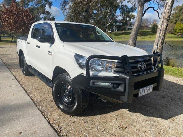 Used Toyota Hilux GUN126R SR Double Cab Wodonga, 2018 Toyota Hilux GUN126R SR Double Cab White 6 Speed Sports Automatic Utility