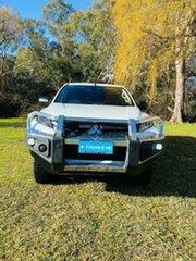 2020 Mitsubishi Triton MR MY20 GLX+ Double Cab White 6 Speed Sports Automatic Utility.