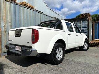 2009 Nissan Navara D40 ST White 6 Speed Manual Utility.