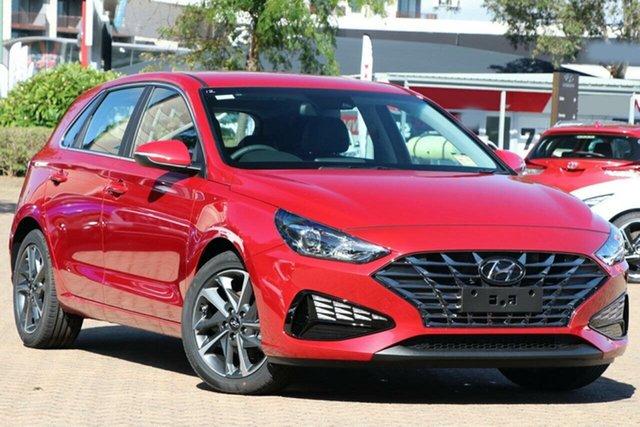 New Hyundai i30 PD.V4 MY21 Active Devonport, 2021 Hyundai i30 PD.V4 MY21 Active Fiery Red 6 Speed Sports Automatic Hatchback