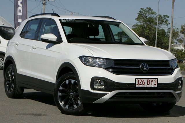 Used Volkswagen T-Cross C1 MY20 85TSI DSG FWD Life Rocklea, 2020 Volkswagen T-Cross C1 MY20 85TSI DSG FWD Life Pure White 7 Speed Sports Automatic Dual Clutch