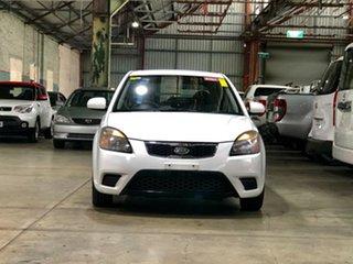 2011 Kia Rio JB MY11 S White 4 Speed Automatic Hatchback.