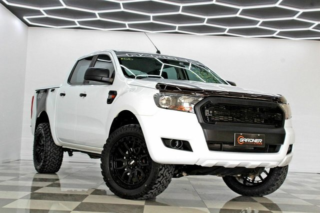 Used Ford Ranger PX MkII MY17 XL 3.2 (4x4) Burleigh Heads, 2017 Ford Ranger PX MkII MY17 XL 3.2 (4x4) White 6 Speed Automatic Crew Cab Utility