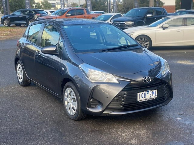Used Toyota Yaris NCP130R Ascent South Melbourne, 2019 Toyota Yaris NCP130R Ascent Graphite 4 Speed Automatic Hatchback