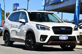 2020 Subaru Forester S5 MY21 2.5i Sport CVT AWD White 7 Speed Constant Variable Wagon.