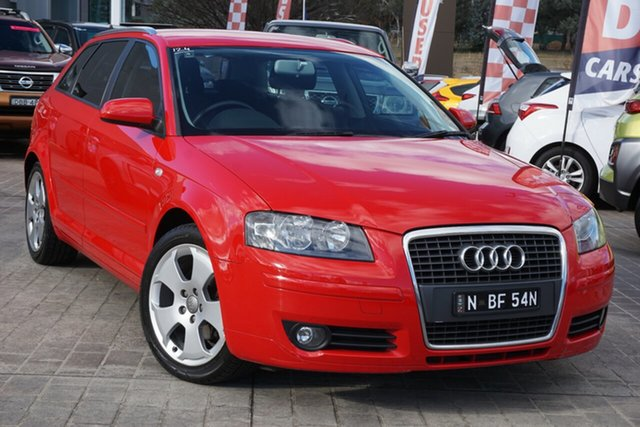 Used Audi A3 8P Attraction Phillip, 2006 Audi A3 8P Attraction Red 5 Speed Manual Hatchback
