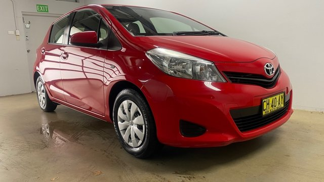 Used Toyota Yaris NCP130R YR Phillip, 2014 Toyota Yaris NCP130R YR Red 4 Speed Automatic Hatchback