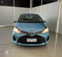 2014 Toyota Yaris NCP130R YR Blue 4 Speed Automatic Hatchback.